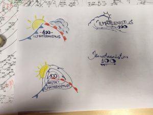 Ilmateenistus 100 logo visandid